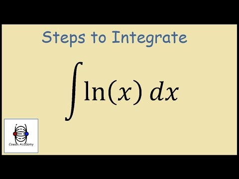 How to integrate ln x (Integration by Parts)