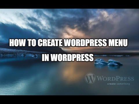 how to create wordpress menu