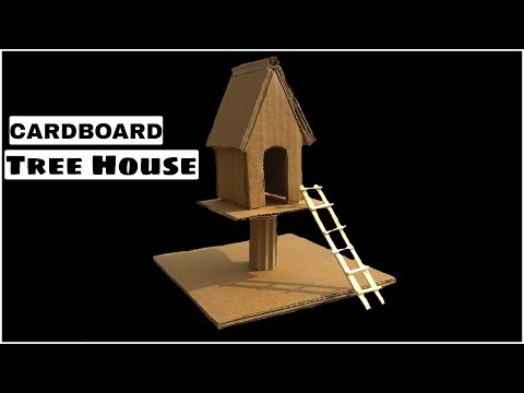 How to Make Amazing cardboard Tree House from cardboard - Tree House project