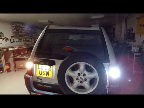LED bulb upgrade on Land Rover Freelander 1 rear lights