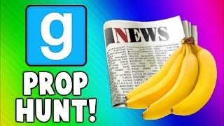 Gmod Prop Hunt Funny Moments - Fruit Torture, Good NEWS, Killer Toilet! (Garry
