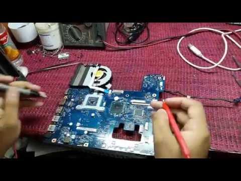 laptop motherboard short circuit repair