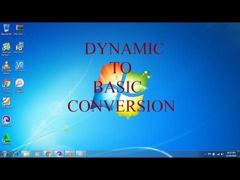 Dynamic to basic memory conversion in Tamil