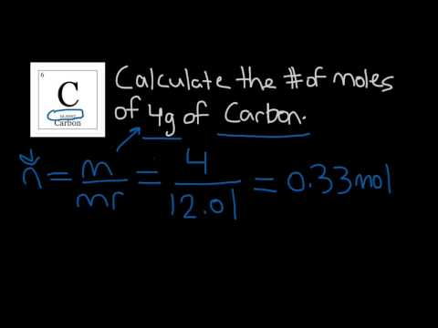 How to Calculate the Number of Moles of an Element | Chemistry |