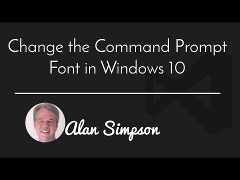 Make Command Prompt Text Bigger