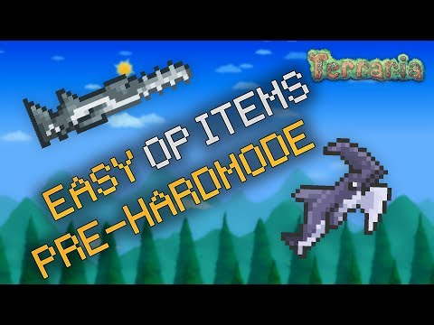 Terraria - HOW TO GET OP ITEMS EASY IN PRE HARDMODE! (Terraria Easy Hardmode)