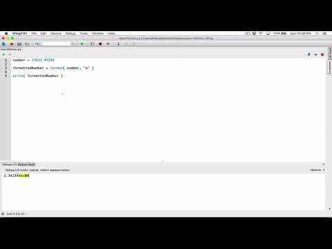 40. Formatting numbers in scientific notation - Learn Python