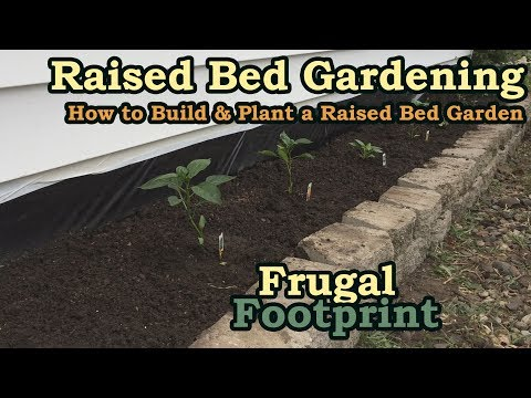 Raised Bed Gardening - How to Build & Plant a Raised Bed Garden - Time-lapse