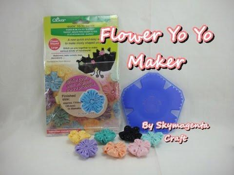 Flower Shape Yo Yo Maker (by Clover) - HOW TO