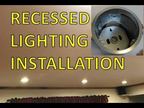 Recessed Lights Installation - Dimmable LED