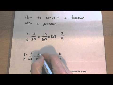 Consumer Math - How to Convert a Fraction to Percent