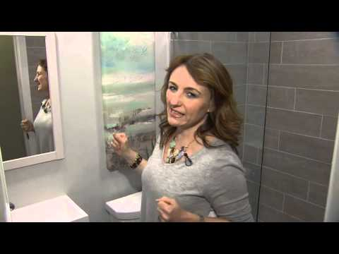 A modern reno for a tiny basement bathroom