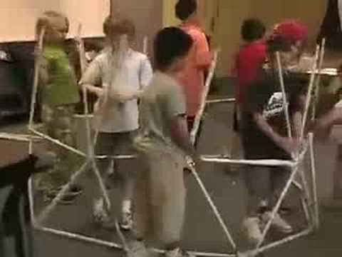 How to make a geodesic dome from newspaper - Playground Science