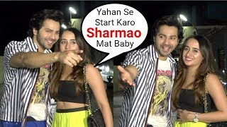 Varun Dhawan Girlfriend Natasha Dalal CUTE Moments Trying To Pose For Paparazzi