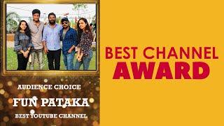 FunPataka Got Best YouTube Channel Award | Telugu Pranks | Chitrapuri Film Festival Awards #Shorts