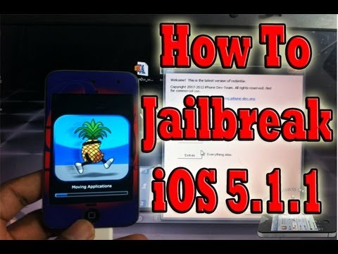 NEW JAILBREAK iOS 5.1.1 iPhone 4,3Gs iPod Touch 4G,3G & iPad 1 - Redsn0w