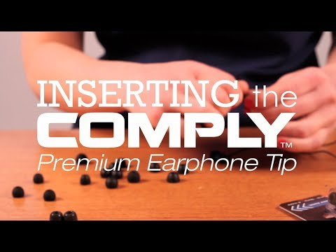 How to Insert Comply™ Foam Tips on Your Earphones