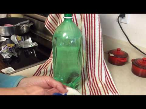 How to remove a label from a plastic bottle! It is easy and quick!