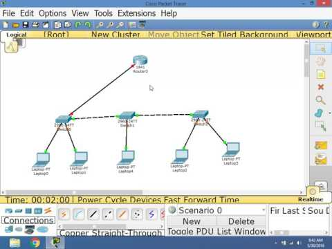 CCNA 3.0 200-125 DHCP Server in Cisco Packet Tracer