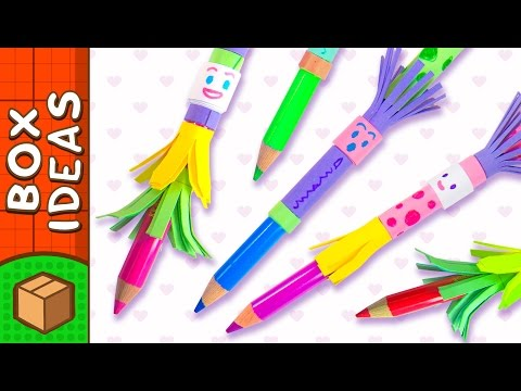 DIY Pencil Topper People | Craft Ideas for Kids on Box Yourself