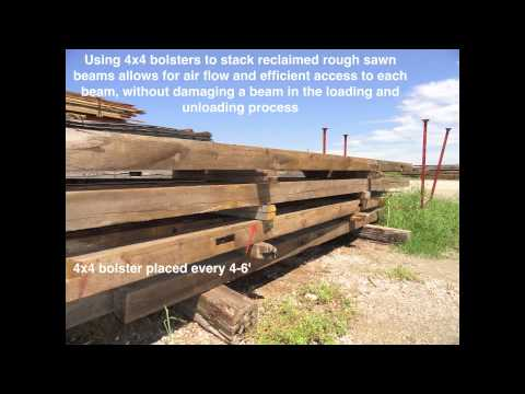 How to Prepare Reclaimed Rough Sawn Beams