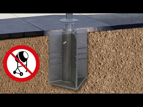 In-ground Parasol base for Free arm parasols- In-ground base Platinum