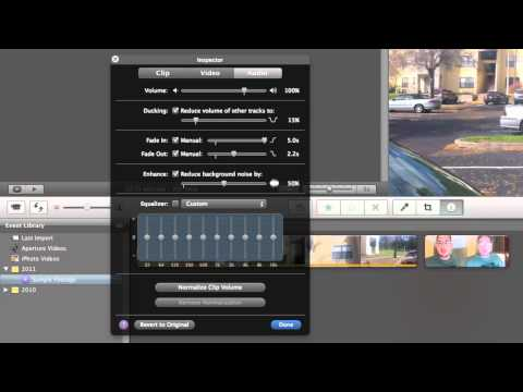 How To: iMovie - Editing Audio