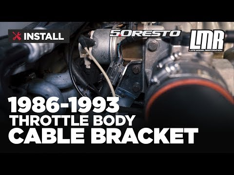 1986-1993 Mustang 5.0 Resto Throttle Body Cable Bracket - Install & Review