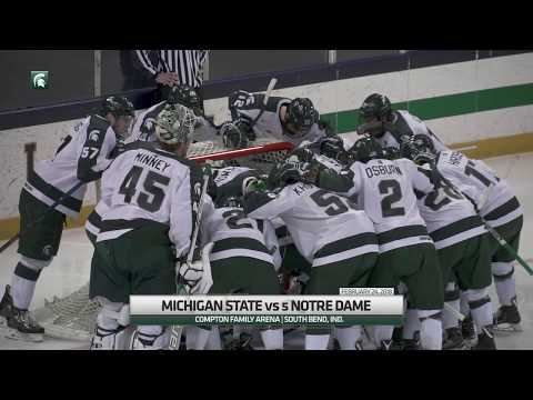 Michigan State takes down 5 Notre Dame 4-3