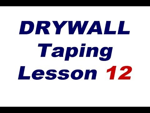Drywall Taping Lessons. Lesson 12 Taping J Bead in a closet.
