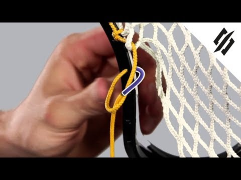 How to String a Lacrosse Head | Sidewall Knot | Step 7 | StringKing