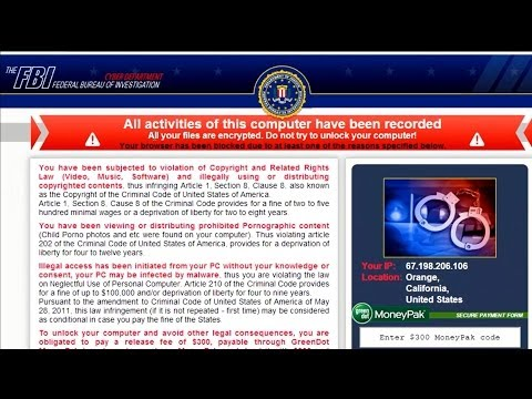 How to remove The FBI virus from your browser