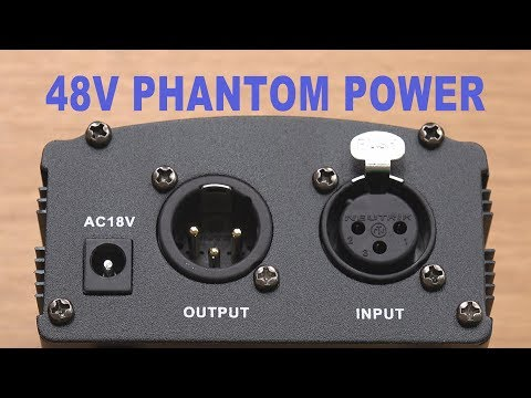 Neewer NW-100 48 Volt Phantom Power Supply For 48V XLR Condenser Microphones - Unboxing