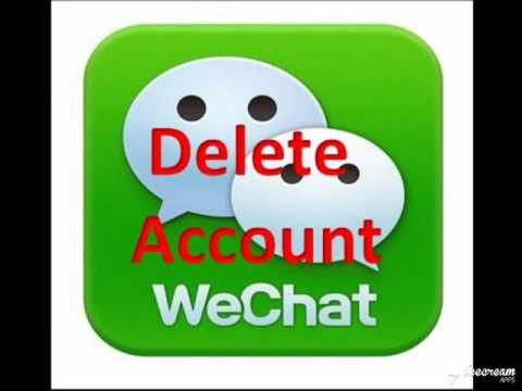 we chat account delete easy permentally