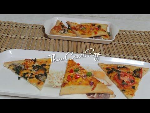 Homemade Thin Crust Pizza Video Recipe by Bhavna - Low fat!!!