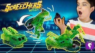 SCREECHERS Wild Cars Review and Play with HobbyKidsTV