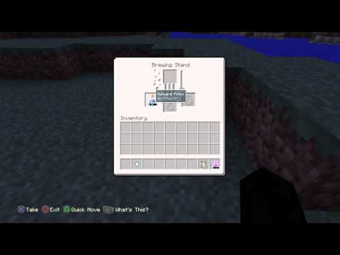 PS4-Minecraft-How to make a potion of regeneration