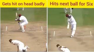 Brutal Bouncers hitting Batsmen and then batsmen