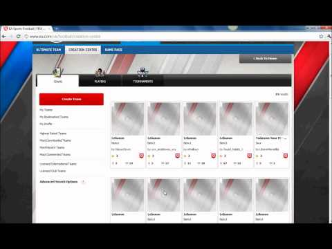 How to download and create players , teams and tournaments on FIFA 12