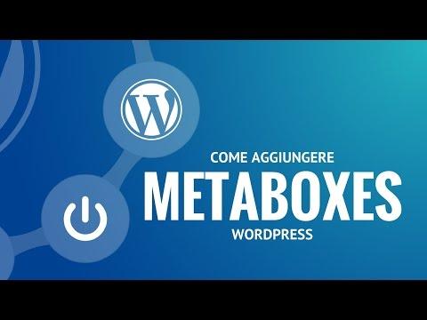 Come aggiungere metabox personalizzati nel post editor di Wordpress