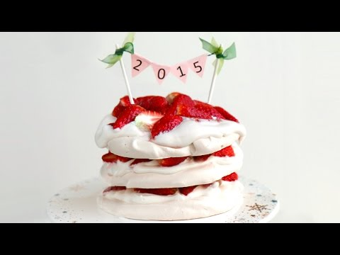Strawberry Meringue Cake 딸기 머랭 케이크