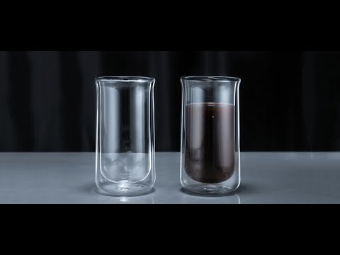 Minimal Double Wall Glass Bottle and Cups - Hand Made