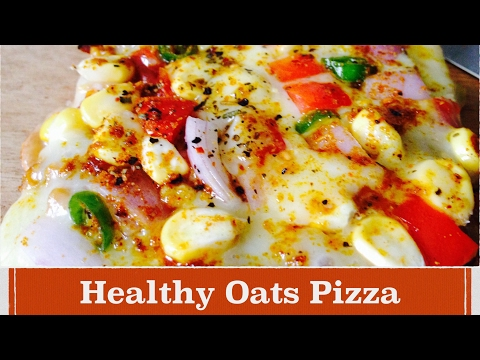 Oats Pizza Recipe | How to make Oats Bread Pizza | Quick and Easy | Vegetarian