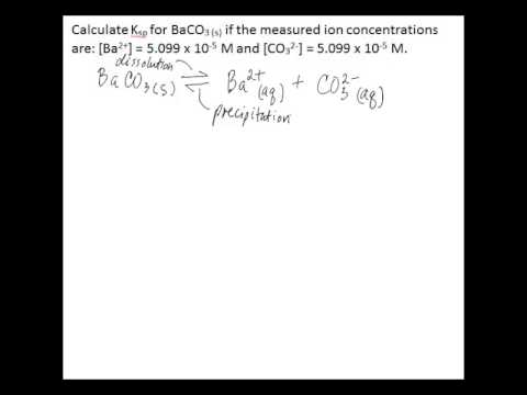 Calculate Ksp from ion concentrations