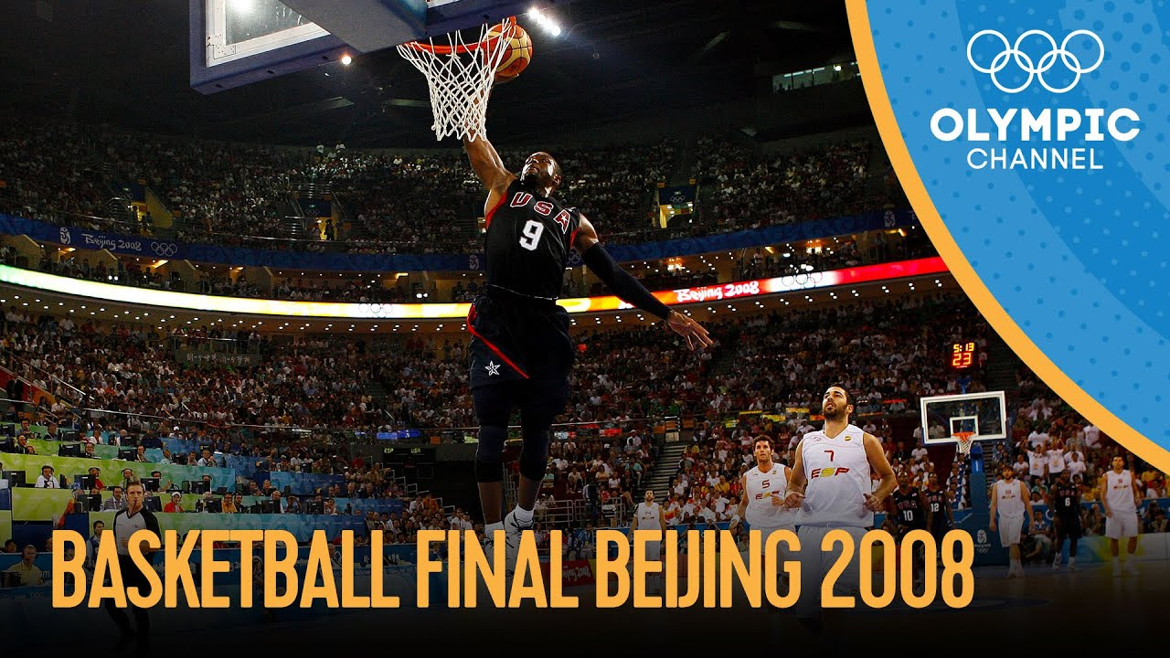 USA v Spain - Full Men's Basketball Final | Beijing 2008 Replays