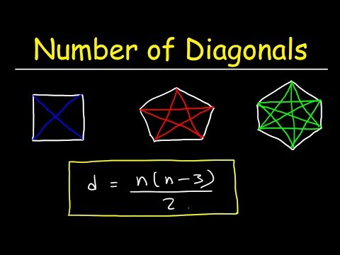 Number of Diagonals In a Regular Polygon - Geometry