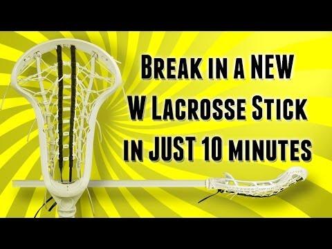 How to break in a new women's lacrosse stick in 10 minutes