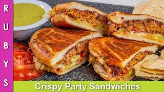 Tortas Crispy Mazedar Chicken Sandwiches  Parties, Lunchbox, Tiffin Ideas Recipe in Urdu Hindi - RKK
