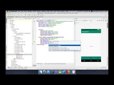 Using BottomNavigationView in AndroidStudio