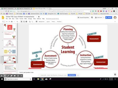 Online T4E Week 14 Assessments Overview